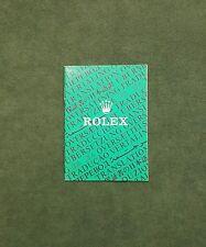 BOOKLET ROLEX TRANSLATION ANNO 1986