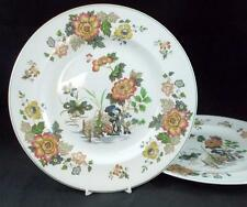 Wedgwood EASTERN FLOWERS 2 Dinner Plates TKD426 LIGHT SCRATCHES GREAT VALUE
