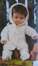 PREMATURE BABY~DOLLS CLOTHES~JACKET~TROUSERS~SOCKS~DK KNITTING PATTERN (DOLL 18)