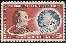 US C66 Airmail Montgomery Blair 15c single MNH 1963
