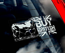 BUY BRITISH - Car Window Sticker - Cow, Beef, Aberdeen Angus, Devon - not Horse