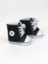 "Black High Top Sneakers w/Stars for American Girl  or 18"" Dolls  Great for Boys!"