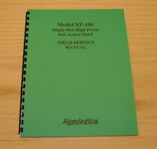 Remington's XP-100 Field Service / Repair Manual - 14 Page Version - #64