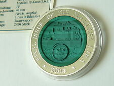 Korea 2004 Final Issue Malta Lira Edelstein Relief coin Silber 10 Won silver