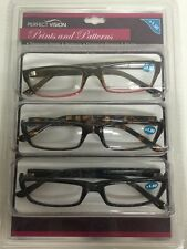 3 Pack Perfect Vision Fashion Details Reading Glasses +1.50 G B Leopard  NEW!