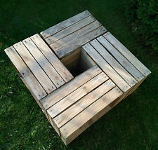 6 BEAUTIFUL VINTAGE WOODEN APPLE CRATES BOXES - GROUND and POLISHED !