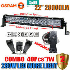 "5D OSRAM 280W 22"" Led Work Light Bar SPOT FLOOD Offroad 4X4WD SUV ATV Tractor"