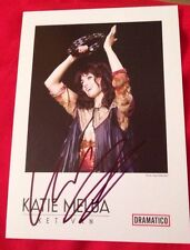 KATIE MELUA SIGNED 6X4 KETEVAN PROMO CARD MUSIC AUTOGRAPH 100% GENUINE