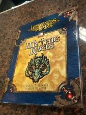 NEW RPG Book Legends & Lairs Mythic Races Character Race Compendium HC NM