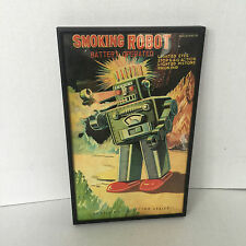 CHROME SMOKING ROBOT SCHYLLING COLLECTORS SERIES  FRAMED BOX COVER UNIQUE ART
