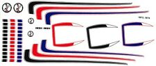 1973 - 74 Plymouth Road Runner Special Stripes 1/64th HO Scale Slot Car Decals