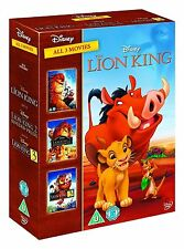 THE LION KING 1-3 Trilogy Movies Collection Boxset (NEW DVD R4)