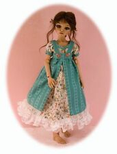 "BJD MSD dress patterns 4 many dolls: Kaye Wiggs, Planetdoll, Ellowyne, 14"" Kish"