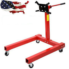 1250 LBS Pro Shop Engine Stand Hoist Automotive Lift Rotating 4 Leg Type Motor