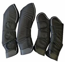 Premium Horse Travel Shipping Boots 1680D Shell Foam Padded Black Set of Four