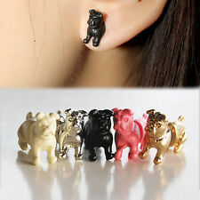 Creative Nice 1PC Cool Punk Temptation Pug Dog Ear Stud Wrap Clip Earring BLACK