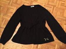 moschino sz 10 knit cashmere and wool holiday winter sweater cardigan