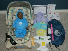REALITY WORKS REAL CARE BABY 3 III AFRICAN MALE BUNDLE DIAPERS BOTTLE KEY