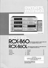 Rotel RCX-860 CD Player Owners Instruction Manual