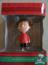 Hallmark Peanuts Charlie Brown in Hat and Red Coat Christmas Tree Ornament