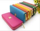 New Women Fashion PU Leather Wallet Zip Around Case Purse Lady Long Handbag Bag