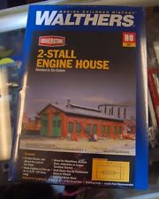 HO Walthers Cornerstone kit 933-3007 * 2-Stall Engine House * NIB