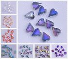 Exquisite 10pcs 12x10mm Heart Faceted Loose Crystal Glass Beads Jewelry Making