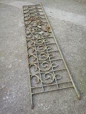 Ancien garde corps de fenêtre art nouveau, (tournesol) en fonte 198 / 221 cm
