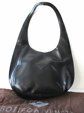 BOTTEGA VENETA Handbag Purse Black Leather