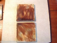 Pair of Antique Cambridge Art Pottery Architectural Tiles