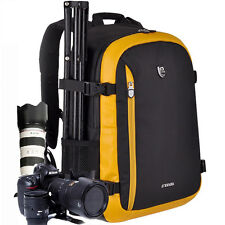 Delux Travel DSLR Camera Backpack Bag Case For Nikon Canon EOS Sony+Raincover