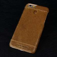 "PIERRE CARDIN Genuine Leather Cover Hard Case For New iPhone 6 6S 4.7"" Brown"