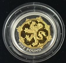 2008 GOLDEN SILHOUETTE £1 SILVER PROOF SCOTTISH LION DESIGN coin only no coa