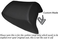 CARBON FIBRE VINYL CUSTOM FITS SUZUKI BANDIT GSF 650 05-11 REAR SEAT COVER