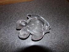 Vintage Vannes French Art Glass Fish Shaped Candy Bowl Made in France