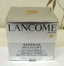 Lancome Renergie Multi - Lift 50ml - New -  SPF15 - Boxed & Cellophane Sealed