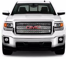 FITS GMC SIERRA 1500 SLE/SLT 2014-2015 CHROME ABS PLASTIC GRILLE OVERLAY INSERT