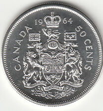 .800 Silver 1964 Elizabeth II Fifty Cent Piece PL