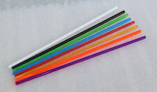 "8 DIFFERENT CLEAR COLOR ACRYLIC PLEXIGLASS PLASTIC LUCITE ROD 1/4"" INCH DIAMETER"