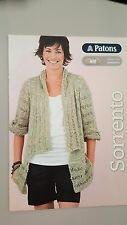 Patons Pattern Book #1300 Sorrento 8 Designs to Knit for Women