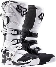 Fox Racing Adult White Black Comp 5 Dirt Bike Boots Motocross MX 2016 SIZE 12