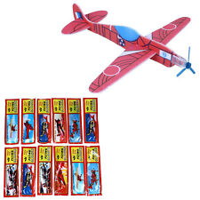 12 Flying Glider Planes Aeroplane Party Fillers Childrens Kids Toys Game Gift