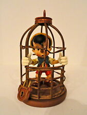 """PINOCCHIO """" I Will Never Lie Again Scene"""" Figure In Metal Cage 4.5"""" (Authentic)"""