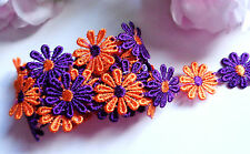 1 inch wide embroidered  Beautiful Flower Lace trim selling by yard #1