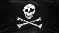 PIRATE FLAG 5' x 3' SKULL and CROSSBONES Pirates Party Jolly Roger