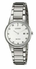 AUTHENTIC CITIZEN AXIOM 11 DIAMOND WOMEN'S ECO-DRIVE WATCH GA1050-51B NEW!