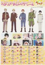 Hetalia Axis Powers sticker promo Germany UK USA Italy Japan France Russia Spain