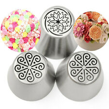 3PCS Baking Russian Tulip Flower Icing Piping Nozzles Tips Cake Decorating Tools