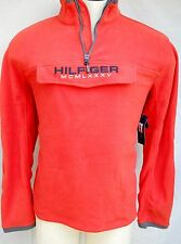 Tommy Hilfiger Fleece Pullover - 1/4 Zip Style - Orange - Large - NWT $98