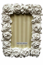 """White Rose 'Heart of House' Flora 6""""x 4"""" (15x10cm) Picture Frame"""